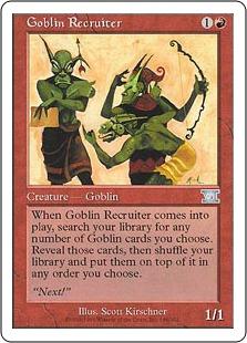 《ゴブリン徴募兵/Goblin Recruiter》[6ED] 赤U