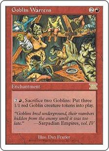 《ゴブリンの巣穴/Goblin Warrens》[6ED] 赤R