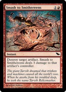 【Foil】《粉々/Smash to Smithereens》[SHM] 赤C