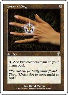 《シッセイの指輪/Sisay's Ring》[7ED] 茶U