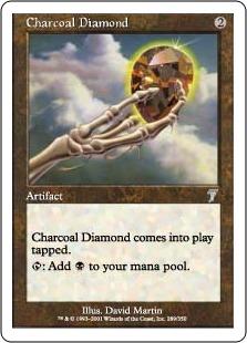 《炭色のダイアモンド/Charcoal Diamond》[7ED] 茶U