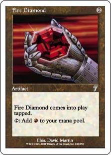 《緋色のダイアモンド/Fire Diamond》[7ED] 茶U
