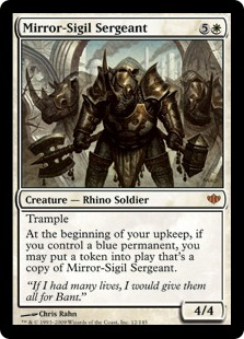 《鏡印章の兵長/Mirror-Sigil Sergeant》[CON] 白R