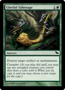 《上機嫌の破壊/Gleeful Sabotage》[SHM] 緑C