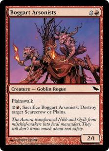 《ボガートの放火魔/Boggart Arsonists》[SHM] 赤C