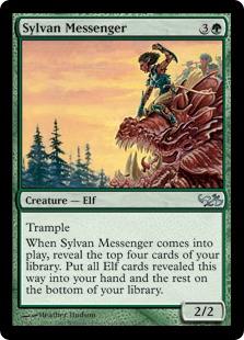 《森の伝書使/Sylvan Messenger》[EVG] 緑U