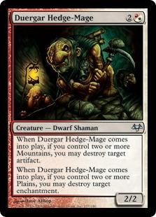 《デュルガーの垣魔道士/Duergar Hedge-Mage》[EVE] 混U