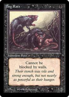 《沼ネズミ/Bog Rats》[DRK] 黒C