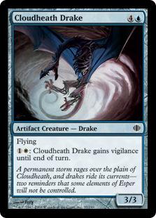 《雲荒れの原のドレイク/Cloudheath Drake》[ALA] 青C