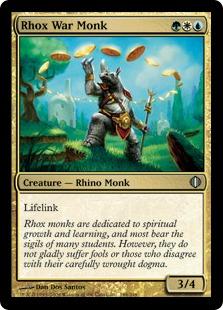 《ロウクスの戦修道士/Rhox War Monk》[ALA] 金U