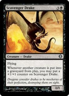 《ゴミあさりのドレイク/Scavenger Drake》[ALA] 黒U