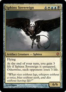 【foil】《スフィンクスの君主/Sphinx Sovereign》[ALA] 金R