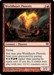 《世界心のフェニックス/Worldheart Phoenix》[CON] 赤R