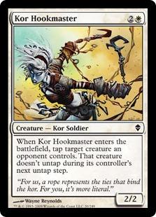 【Foil】《コーの鉤の達人/Kor Hookmaster》[ZEN] 白C