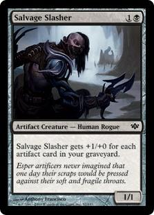 《回収する斬鬼/Salvage Slasher》[CON] 黒C