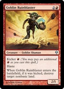 《ゴブリンの廃墟飛ばし/Goblin Ruinblaster》[ZEN] 赤U