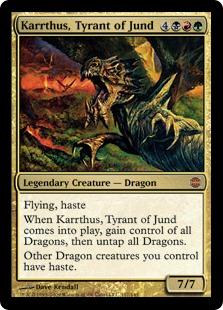 【Foil】《ジャンドの暴君、カーサス/Karrthus, Tyrant of Jund》[ARB] 金R