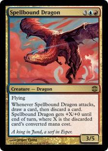 《呪文縛りのドラゴン/Spellbound Dragon》[ARB] 金R
