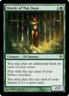 《ムル・ダヤの巫女/Oracle of Mul Daya》[ZEN] 緑R