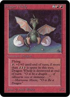 《チビ・ドラゴン/Dragon Whelp》[LEA] 赤U