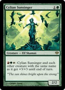 《シーリアの陽歌い/Cylian Sunsinger》[CON] 緑R