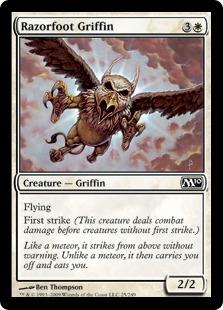 《カミソリ足のグリフィン/Razorfoot Griffin》[M10] 白C