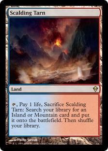 《沸騰する小湖/Scalding Tarn》[ZEN] 土地R