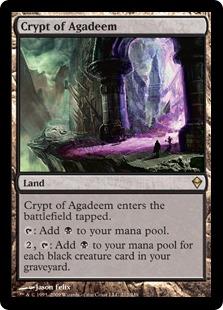 《アガディームの墓所/Crypt of Agadeem》[ZEN] 土地R