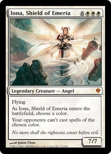 【Foil】《エメリアの盾、イオナ/Iona, Shield of Emeria》[ZEN] 白R