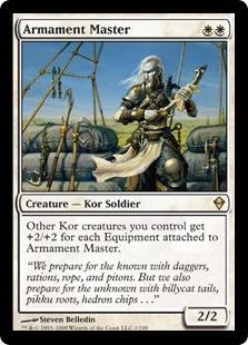 【Foil】《武装の達人/Armament Master》[ZEN] 白R