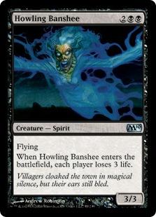 【Foil】《吠えたけるバンシー/Howling Banshee》[M10] 黒U
