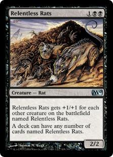 【Foil】《執拗なネズミ/Relentless Rats》[M10] 黒U