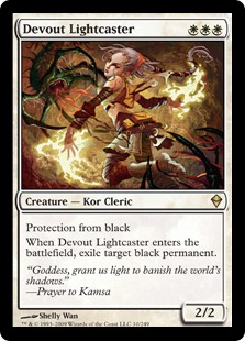 《真心の光を放つ者/Devout Lightcaster》[ZEN] 白R