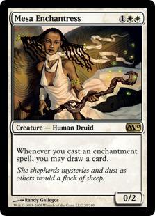 《メサの女魔術師/Mesa Enchantress》[M10] 白R