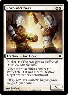 【Foil】《コーの奉納者/Kor Sanctifiers》[ZEN] 白C
