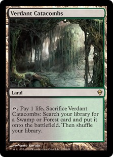 《新緑の地下墓地/Verdant Catacombs》[ZEN] 土地R
