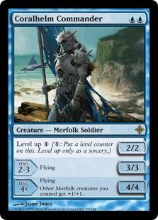 《珊瑚兜の司令官/Coralhelm Commander》[ROE] 青R