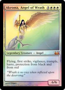 《怒りの天使アクローマ/Akroma, Angel of Wrath》[DvD] 白R