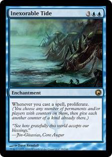 【Foil】《容赦無い潮流/Inexorable Tide》[SOM] 青R