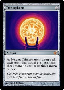 【Foil】《三なる宝球/Trinisphere》[FtV:Exiled] 茶