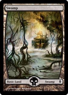 【Foil】《沼/Swamp》(240)[ZEN] 土地