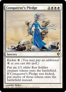 【Foil】《征服者の誓約/Conqueror's Pledge》[ZEN] 白R