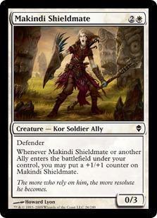 《マキンディの盾の仲間/Makindi Shieldmate》[ZEN] 白C