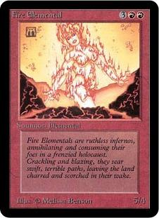 《炎の精霊/Fire Elemental》[LEA] 赤U