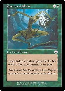 《祖先の仮面/Ancestral Mask》[MMQ] 緑C