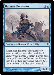 《ハリマーの採掘者/Halimar Excavator》[WWK] 青C