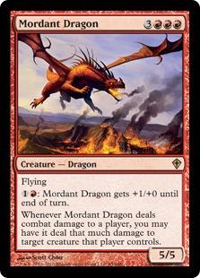 《焼酸のドラゴン/Mordant Dragon》[WWK] 赤R