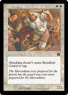 《不動の守備兵/Steadfast Guard》[MMQ] 白C