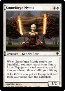 《石鍛冶の神秘家/Stoneforge Mystic》[WWK] 白R