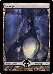 【Foil】《沼/Swamp》(238)[ZEN] 土地